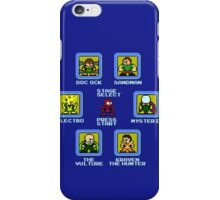 8-Bit Spider-Man Sinister Six Stage Select iPhone Case/Skin
