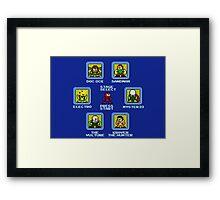 8-Bit Spider-Man Sinister Six Stage Select Framed Print