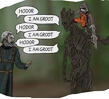 Game of Thrones, Gardians of Galaxy - Hodor Meets Groot 2 by SamSaab