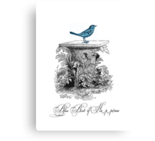 Blue Bird of Happiness Canvas Print