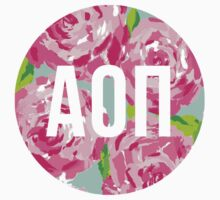 alpha omicron pi rose print by lordofthefries