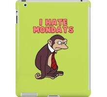 Monday Monkey Lives For The Weekend, Sir. iPad Case/Skin