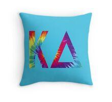 kappa delta tie dye Throw Pillow