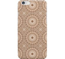 Chocolate Brown & Mocha Cream Kaleidoscope Flowers iPhone Case/Skin