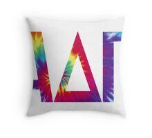 alpha delta pi tie dye print Throw Pillow
