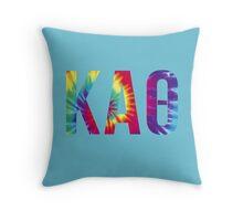 kappa alpha theta tie dye Throw Pillow