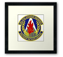 50th Civil Engineer Squadron - Engineer The High Ground Framed Print