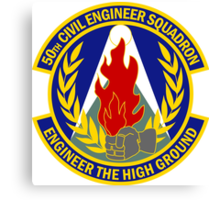 50th Civil Engineer Squadron - Engineer The High Ground Canvas Print