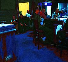 Blue Bar on a Monday by RC deWinter