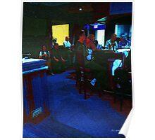 Blue Bar on a Monday Poster