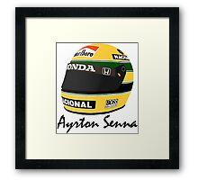 Ayrton Senna Helmet Design Framed Print