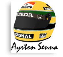 Ayrton Senna Helmet Design Canvas Print