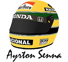 Ayrton Senna Helmet Design Photographic Print