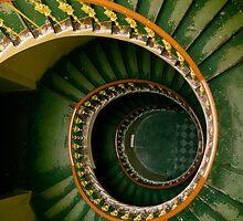 Spiral stairs in green by JBlaminsky
