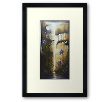 Clematis and the Rose Framed Print
