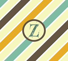Striped Letter Z by Sean Brett