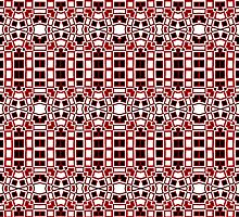 Black, White and Red Abstract Design Pattern by Mercury McCutcheon