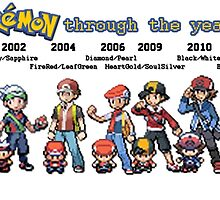 Pokemon Through the Years... by DubstepDuck117