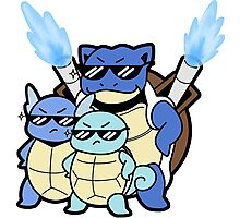 Squirtle Squad Photographic Print