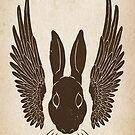 winged rabbit by Richard Morden