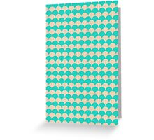 Ocean Blue and Sand Scallop Pattern Design Greeting Card