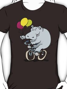 hippo on a bike T-Shirt