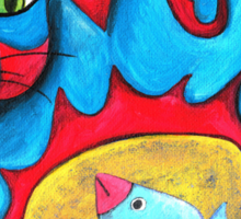 Catius Maximus and the little Blue Bird  Sticker