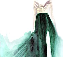 Girl in the Emerald Skirt by FallintoLondon