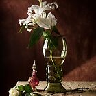 Roemer Glass with Lily & Perfume Bottle by Jon Wild