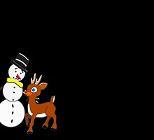 Are You the REAL Rudolph on black by Dennis Melling
