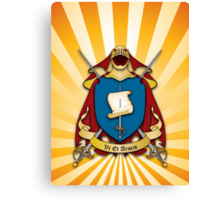Assume Arms Coat of Arms Canvas Print