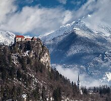 Bled Castle, Slovenia by Curtis Budden