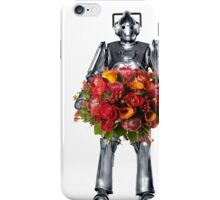 cyberman with flowers  iPhone Case/Skin