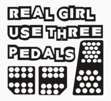 real girl use three pedals by styko