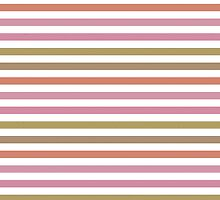 Pink Roses in Anzures 2 Stripes 1H by Christopher Johnson