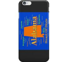 Colorful Alabama State Pride Map iPhone Case/Skin