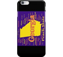 Colorful Georgia State Pride Map Silhouette  iPhone Case/Skin