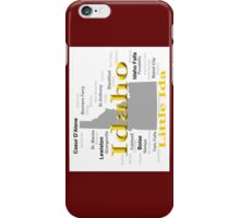 Idaho State Pride Map Silhouette  iPhone Case/Skin