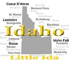 Idaho State Pride Map Silhouette  by KWJphotoart