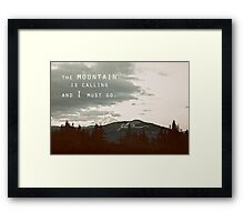 Muir: Mountain Framed Print