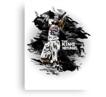 LeBron James - The King Returns Canvas Print