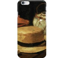 Still-Life with Yellow Straw Hat iPhone Case/Skin
