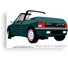 Peugeot 205 cabriolet Roland Garros Canvas Print