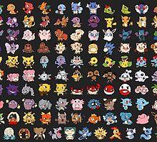 Poke Chibis 151 by pixelpoe
