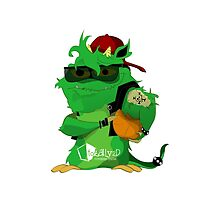 Green monster holding a basket ball by Totally2d