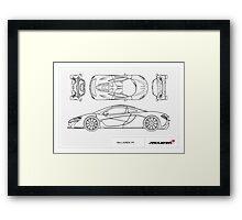 McLaren P1 - BluePrint Framed Print