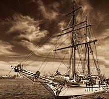 Docked but soon to be under sail by Celeste Mookherjee