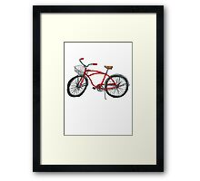 Vintage Pedal Power Framed Print