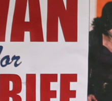 Swan For Sheriff Sticker
