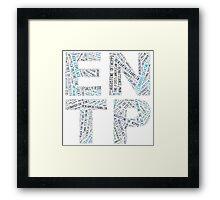 ENTP Word Cloud Framed Print